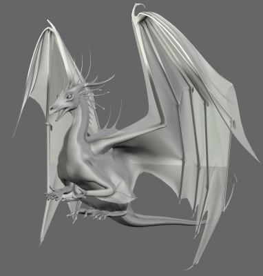 Drachenstatue mit Flügeln