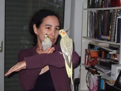 Kim and birds